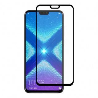 Für Huawei Honor 8X 3D Display 0, 3 mm H9 Hart Glas Schwarz Schutz Folie Cover