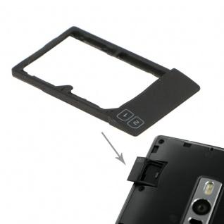 Simkarten Halter Sim Card Tray für OnePlus Two Sim Schlitten Zubehör Schwarz Neu - Vorschau 1