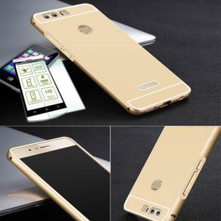 Alu Bumper 2 teilig Gold + 0, 3 H9 Panzerglas für Huawei Honor 8 Tasche Hülle Neu