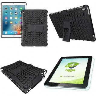 Hybrid Outdoor Schutzhülle Schwarz für iPad Pro 9.7 Tasche + 0.4 H9 Hartglas