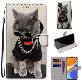 Für Xiaomi Redmi 9C Kunst-Leder Handy Tasche Motiv 2 Hülle Etuis Cover Schutz