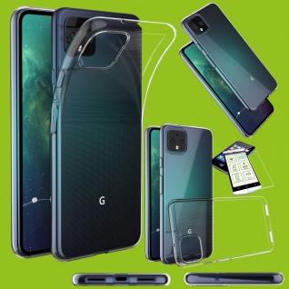 Für Google Pixel 4 XL Silikon TPU Transparent + 0, 26 H9 Glas Tasche Etuis Case Case