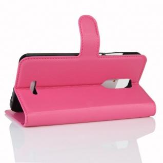 Tasche Wallet Premium Pink für Wiko Upulse Lite Hülle Case Cover Etui Schutz Neu - Vorschau 4
