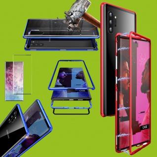 Für Samsung Galaxy Note 10 Magnet Tasche Rot Transparent + 0, 3 4D H9 Glas Etuis
