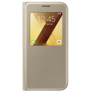 Samsung S View Wallet Tasche Kunstleder EF-CA520 für Galaxy A5 A520F 2017 Gold