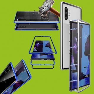 Für Samsung Galaxy Note 10 N970F Magnet Metall Silber Transparent Tasche Etuis