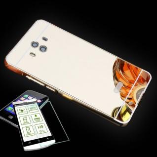 Alu Bumper 2 teilig Gold + 0, 3 H9 Hartglas für Huawei Mate 10 Tasche Hülle Neu