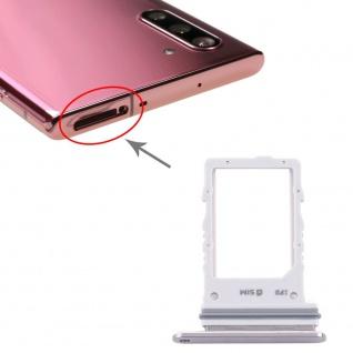 Sim Karten Halter für Samsung Galaxy Note 10 5G Silber Card Tray SD Ersatzteil