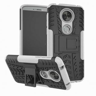 Für Motorola Moto E5 Plus Hybrid Case 2teilig Outdoor Weiß Etui Tasche Hülle Neu
