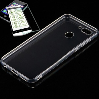 Silikoncase Transparent Tasche + 0, 3 H9 Hartglas für Huawei Nova 2 Plus Hülle
