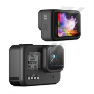 Für GoPro HERO 8 Black Camera Lens Schutz + Display Glas Linse Folie Zubehör LCD