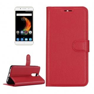 Tasche Wallet Premium Rot für ZTE Blade A610 Plus Hülle Case Cover Etui Schutz