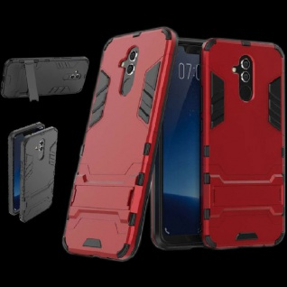 Für Huawei Mate 20 Lite Metal Style Outdoor Rot Tasche Hülle Cover Schutz Neu