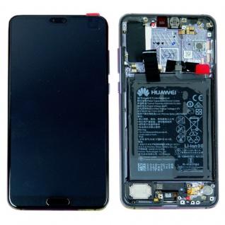 Huawei Display LCD Rahmen für P20 Pro Service Pack 02351WQK Schwarz Batterie Neu