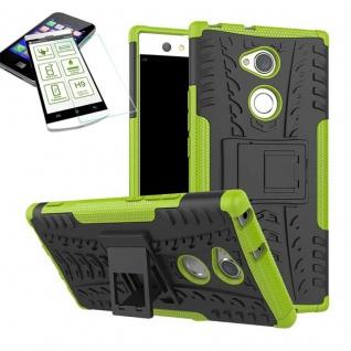 Hybrid Case 2 teilig Grün für Sony Xperia XA2 Ultra + H9 Schutz Glas Tasche Neu