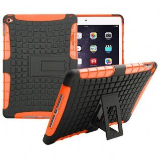 Hybrid Outdoor Schutzhülle Cover Orange für Apple iPad Air 2 Tasche Case Hülle