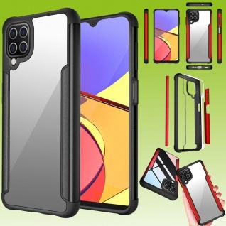 Für Samsung Galaxy A12 Hybrid Iron Man Schwarz Handy Tasche Etuis Hülle