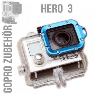 Blau Aluminium Alu Lanyard Ring für GoPro HD Hero 3 Metall Rahmen + Werkzeug Neu