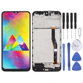 Für Samsung Galaxy M20 M205F Display Full TFT LCD + Rahmen Touch Ersatz Schwarz