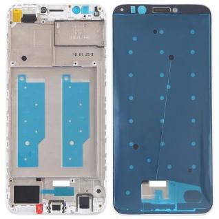 Gehäuse Rahmen Mittelrahmen Deckel für Huawei Y7 2018 Weiß Reparatur Ersatz Neu