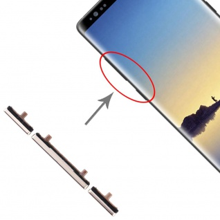 Für Samsung Galaxy Note 8 Sidekeys Seitentasten Gold Ersatz Zubehör Reparatur