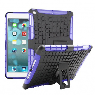 Hybrid Outdoor Schutzhülle Cover Lila für Apple iPad Air Tasche Case Hülle Neu