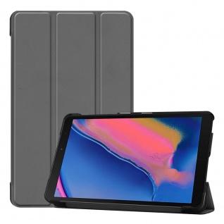 Für Samsung Galaxy Tab A 8.0 2019 T290 3folt Wake UP Smart Cover Grau Hülle Etui