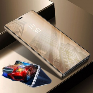 Für Huawei Mate 20 Pro Clear View Smart Cover Gold Tasche Hülle Wake UP Case Neu - Vorschau 2