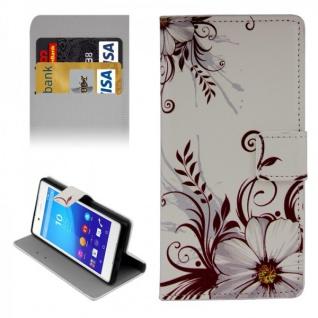 Schutzhülle Muster 77 für Sony Xperia Z3 Plus E6553 Bookcover Tasche Hülle Case
