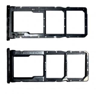 Dual SIM Micro SD Karten Halter Adapter Schwarz für Xiaomi Redmi Note 10 Pro 4G