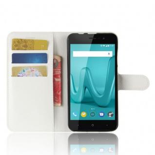 Tasche Wallet Premium Weiß für Wiko Lenny 4 Hülle Case Cover Etui Schutz Neu Top - Vorschau 4