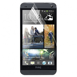 2x Displayschutzfolie Schutzfolie Folie für HTC One Mini M4 Zubehör + Poliertuch
