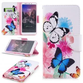 Für Huawei P30 Lite Kunstleder Tasche Book Motiv 39 + H9 Glas Hülle Etuis Cover - Vorschau 2