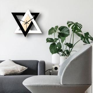 Kreative Retro Design Wand Uhr Schwarz Weiß Wall Clock Accessoires