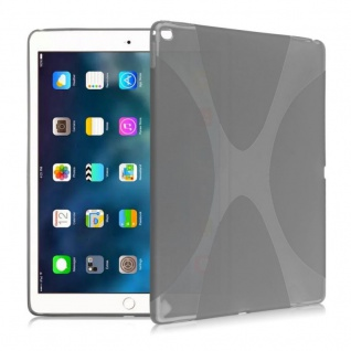 Schutzhülle Silikon X-Line Grau Hülle für Apple iPad Pro 9.7 Zoll Tasche Cover