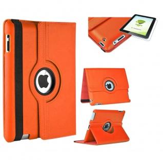 Für Apple iPad Pro 12.9 3. Gen Orange 360 Grad Hülle Tasche Kunstleder + H9 Glas