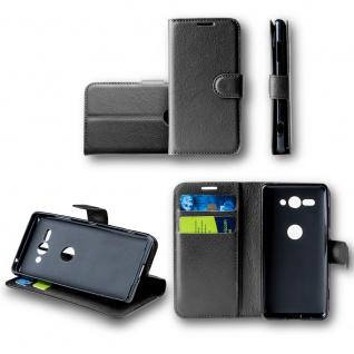 Für Sony Xperia XA1 Plus Tasche Wallet Premium Schwarz Hülle Case Etuis Cover
