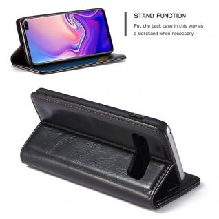 Schutzhülle Handy Tasche für Samsung Galaxy S10 Business Fächer Wallet Schwarz - Vorschau 3