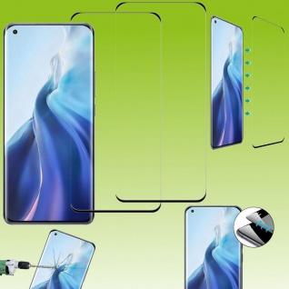 Für Xiaomi Mi 11 2x 4D Display Full H9 Curved Glas Schwarz Panzer Schutz Folie