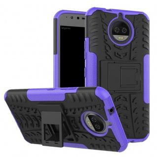 Hybrid Case 2teilig Outdoor Lila Tasche Hülle für Motorola Moto G5S Plus Etui