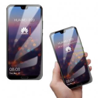 4D Premium 0, 3 mm H9 Hartglas Transparent Folie für Huawei P20 Lite Schutz Neu