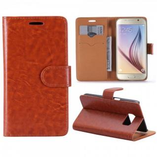 Schutzhülle Braun für Samsung Galaxy S7 G930 G930F Bookcover Tasche Hülle Case