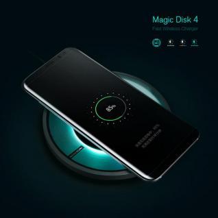 Universal Induktive Wireless Ladestation kabelloses Laden Qi NFC Dock Rund Black