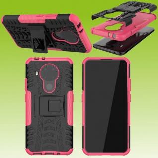 Für Nokia 5.4 Outdoor Pink Handy Tasche Etuis Hülle Cover Case Schutz Zubehör