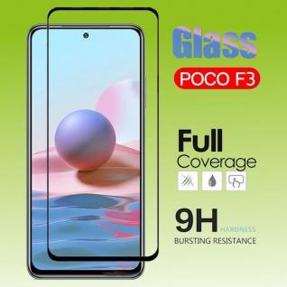 Für Xiaomi Poco F3 / F3 Pro 2x 4D Display Full LCD H9 Curved Hart Glas Panzer