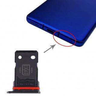 SIM Karten Halter + SIM Karten Halter für OnePlus 8 Pro Schwarz Schlitten Tray