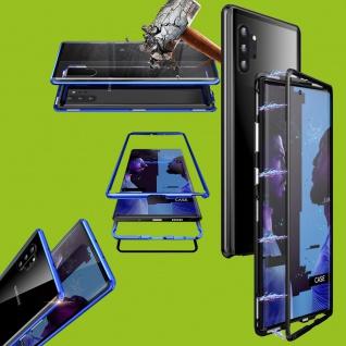 Für Samsung Galaxy Note 10 N970F Magnet Metall Schwarz Transparent Tasche Etuis