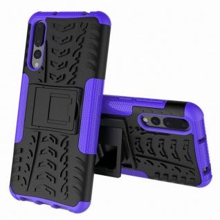 Hybrid Case 2teilig Outdoor Lila für Huawei P20 Etui Tasche Hülle Cover Schutz