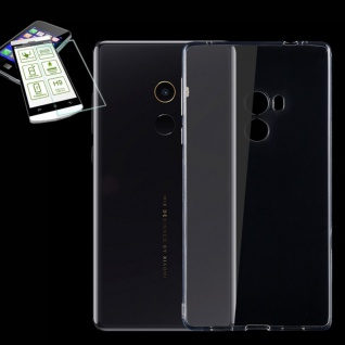Silikoncase Transparent Tasche + H9 Panzerglas für Xiaomi Mi MIX Hülle Schutz