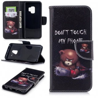 Tasche Wallet Book Cover Motiv 30 für Samsung Galaxy S9 Plus G965F Hülle Case